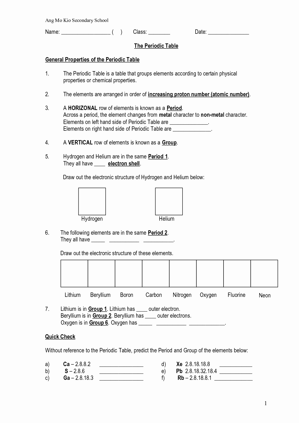 Atoms and Elements Worksheet Luxury Periodic Table Worksheets Chemistry