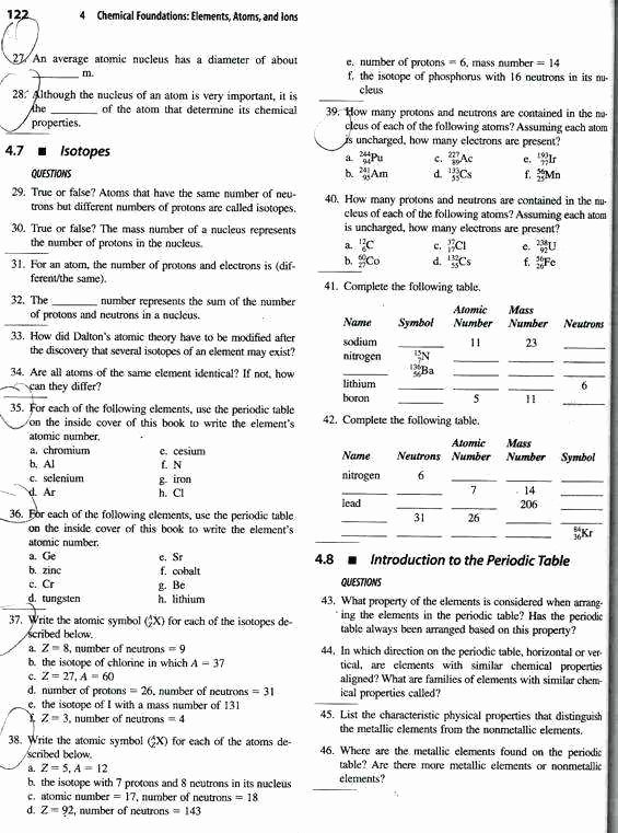 Atoms and Ions Worksheet Beautiful atoms Worksheet