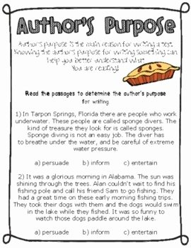 Author Point Of View Worksheet Beautiful Author S Purpose and Point Of View by Ginger Snaps
