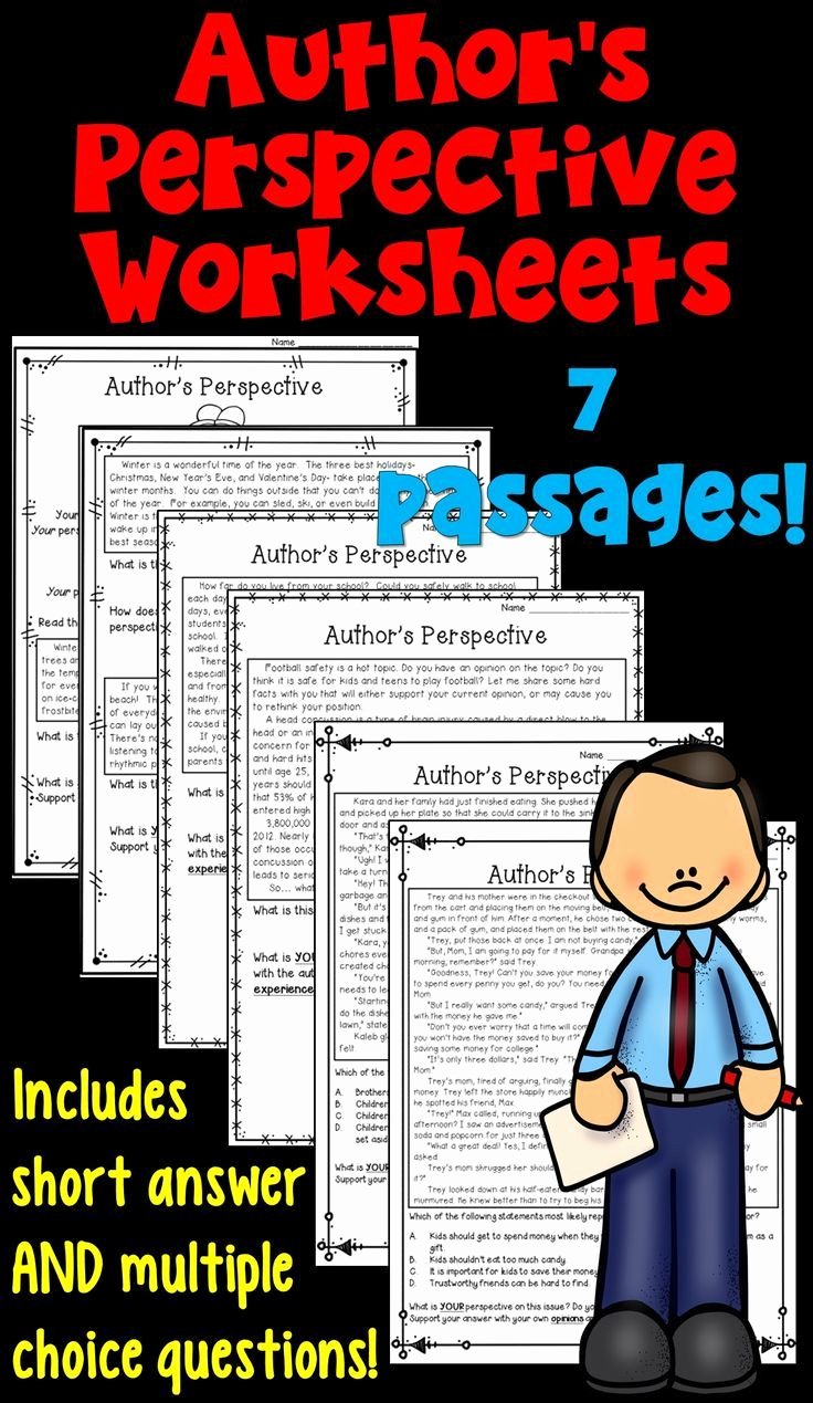 Author Point Of View Worksheet Best Of 2982 Best Images About Reading On Pinterest