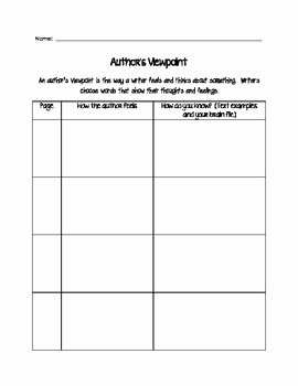 Authors Viewpoint Graphic Organizer