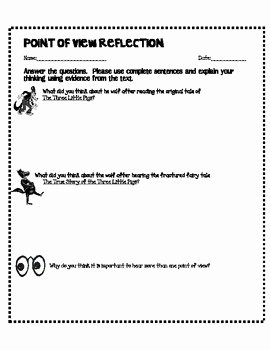 Author Point Of View Worksheet Luxury How Point Of View Changes Your Beliefs the Three Little