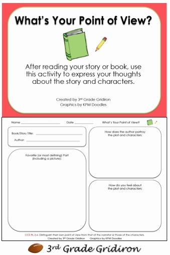 Author Point Of View Worksheet Luxury Math Reading Language Arts Oh My Classroom Freebies