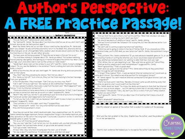 Author Point Of View Worksheet New Teaching About Author S Perspective Free Items