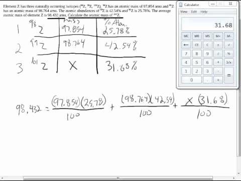 Average atomic Mass Worksheet Answers Unique Calculating Average atomic Mass Worksheet Q4