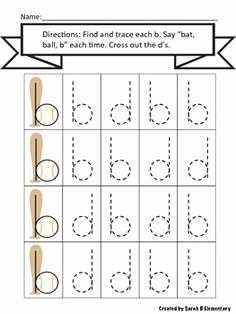 B and D Confusion Worksheet Awesome B and D Reversal Activities Occupational therapy