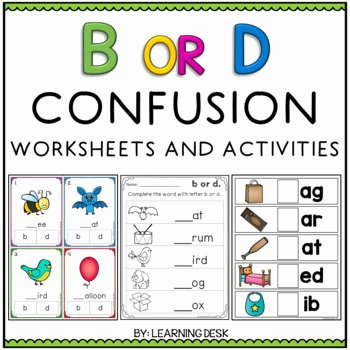 B and D Confusion Worksheet Awesome B and D Reversal B and D Confusion by Learning Desk