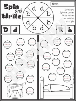 B and D Confusion Worksheet Beautiful B and D Reversal Worksheets and Activities by Km Classroom