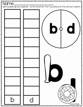 B and D Confusion Worksheet Best Of B and D Confusion Practice by Melissa Moran