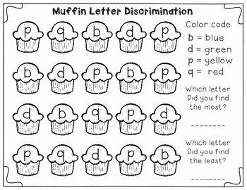 B and D Confusion Worksheet Elegant Letter Discrimination Center Freebie Great for Tricky B