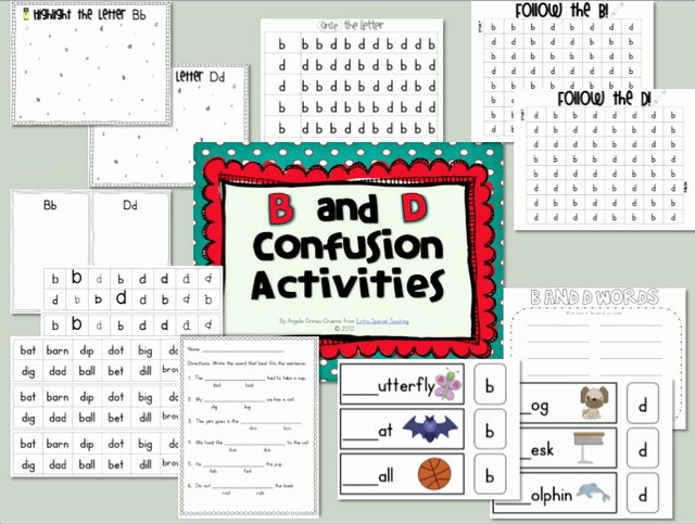 B and D Worksheet Beautiful 17 Best Images About B D Confusion On Pinterest
