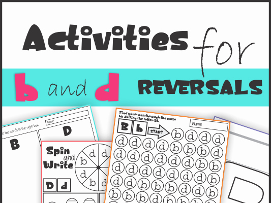 B and D Worksheet Best Of B and D Reversal Worksheets and Activities by Km Classroom