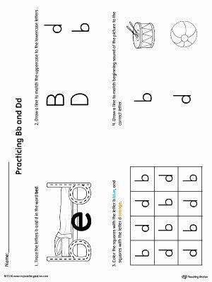 B and D Worksheet Elegant Practice Identifying Lowercase Letters B D