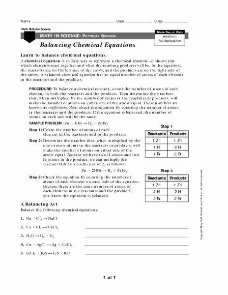 Balancing Act Worksheet Answer Key Awesome Balancing Act Worksheet Answers