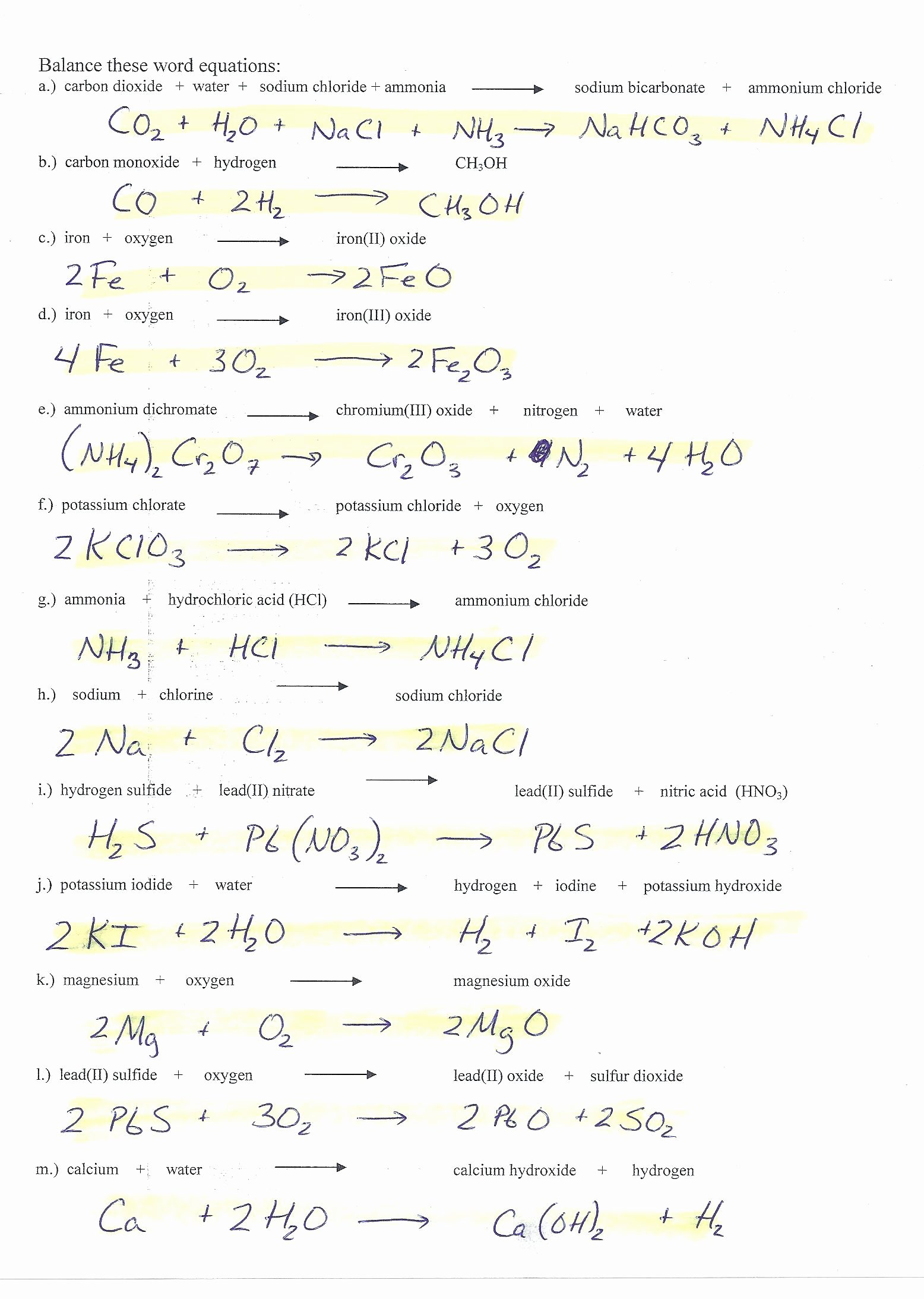 Balancing Act Worksheet Answer Key Best Of Balancing Equations Practice 8th Grade Tessshebaylo