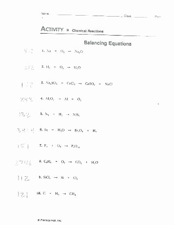 Balancing Act Worksheet Answer Key Elegant Balancing Equations Practice Problems Answer Key – Hedonia