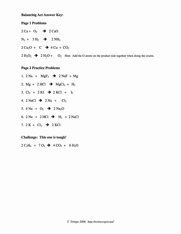 Balancing Act Worksheet Answer Key Inspirational Balancing Act Practice Worksheet Answers the Best