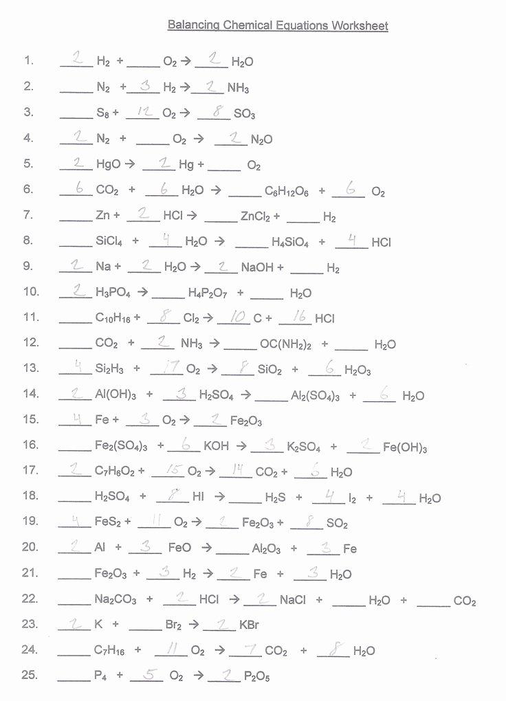 Balancing Chemical Equation Worksheet Elegant Balancing Chemical Equations Worksheet Google Search