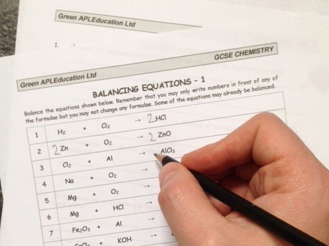 Balancing Chemical Equations Worksheet 1 Inspirational Free Chemistry Balancing Equations by Greenapl