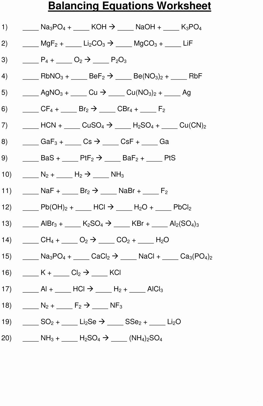 Balancing Equations Worksheet Answers Chemistry Inspirational Do You Find Balancing the Chemical Equation A Daunting