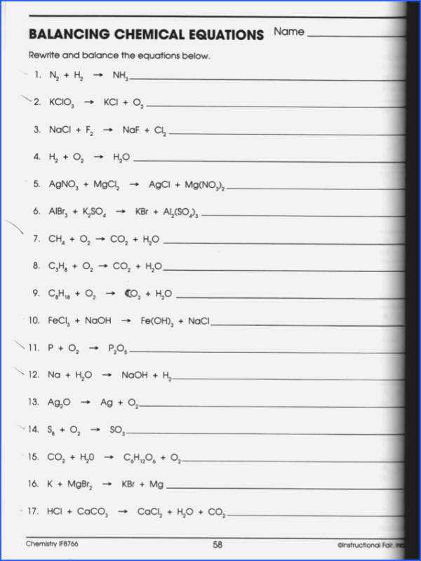 Balancing Equations Worksheet Answers Chemistry New Redox Reactions Worksheet