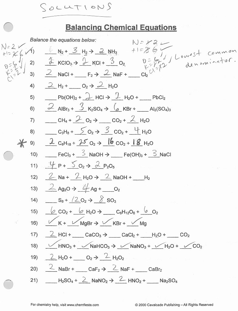 Balancing Equations Worksheet Answers New 13 Best Of Balancing Equations Worksheet Answer Key