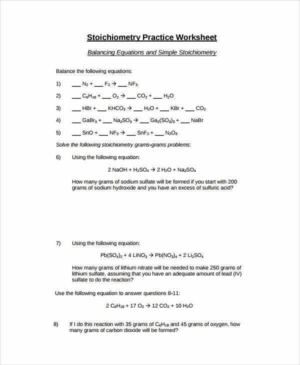 Balancing Nuclear Equations Worksheet Answers Awesome Sample Balancing Equations Worksheet Templates 9 Free
