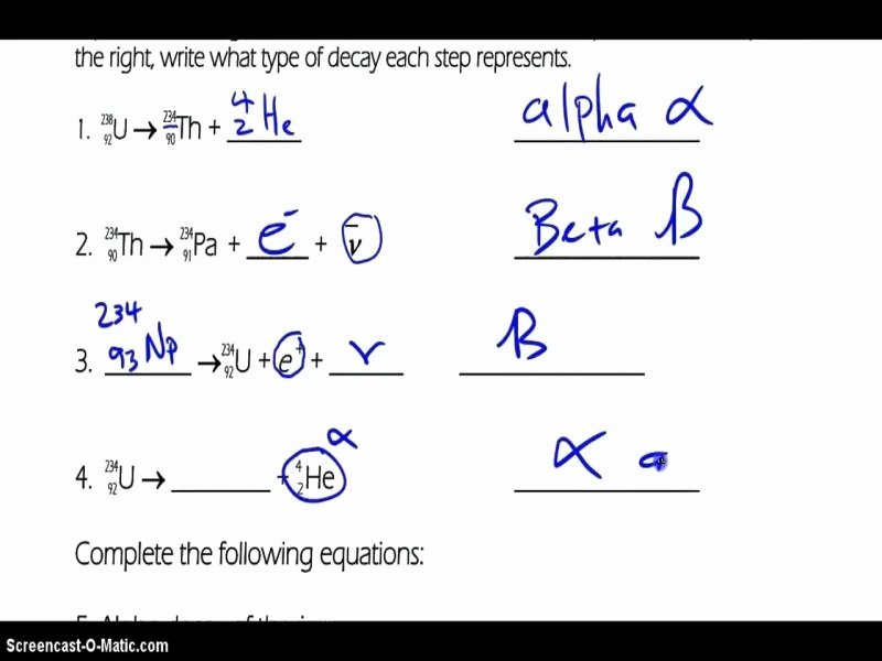 Balancing Nuclear Equations Worksheet Best Of Balancing Nuclear Equations Worksheet Answers Free