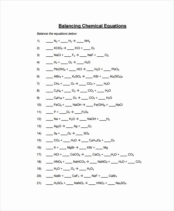 Balancing Nuclear Equations Worksheet Lovely Sample Balancing Equations Worksheet Templates 9 Free