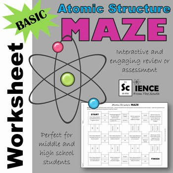 Basic atomic Structure Worksheet Answers Unique Basic atomic Structure Maze Worksheet for Review or