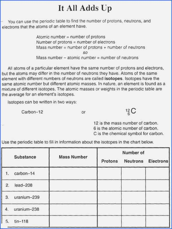 Basic atomic Structure Worksheet Best Of Protons Neutrons and Electrons Worksheet