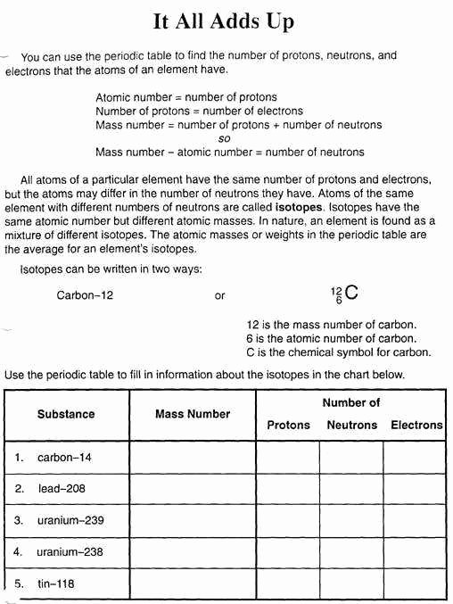 Basic atomic Structure Worksheet Lovely Basic atomic Structure Worksheet