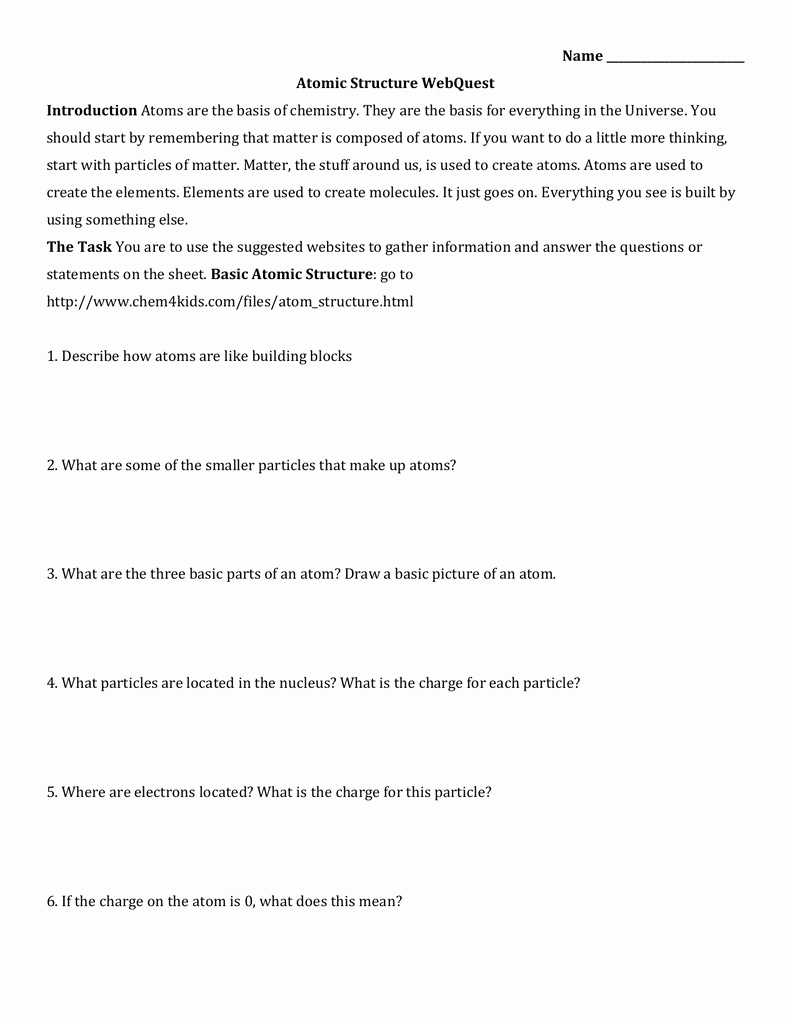 Basic atomic Structure Worksheet Luxury Worksheet Basic atomic Structure Worksheet Answers Grass