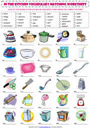 Basic Cooking Terms Worksheet Answers Best Of Kitchen Vocabulary Esl Printable Worksheets and Exercises