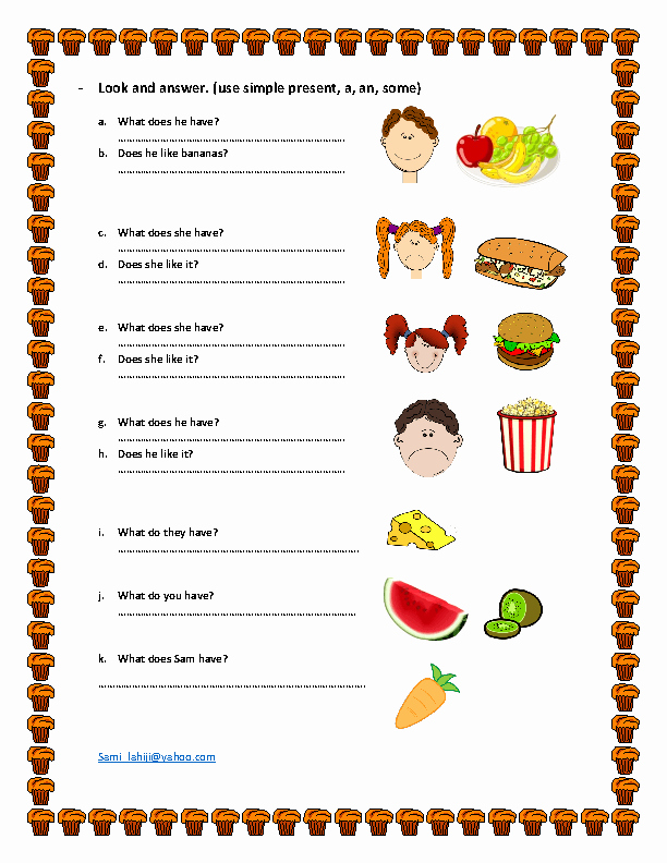 Basic Cooking Terms Worksheet Answers Elegant 416 Free Food Worksheets