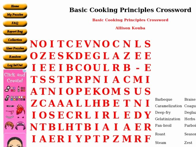 Basic Cooking Terms Worksheet Answers Elegant Basic Cooking Principles Worksheet for 6th 8th Grade
