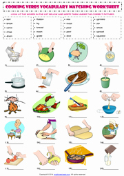 Basic Cooking Terms Worksheet Answers Inspirational Cooking Verbs Esl Printable Worksheets and Exercises