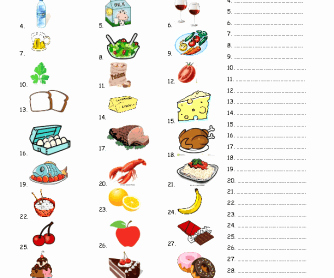 Basic Cooking Terms Worksheet Answers Inspirational Food Vocabulary