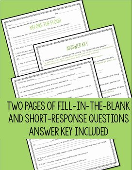Before the Flood Worksheet Awesome before the Flood Movie Questions by Read Relevant