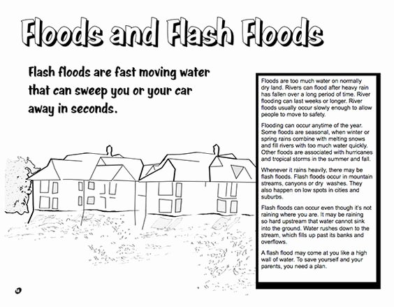 Before the Flood Worksheet Awesome Here S A Booklet for Kids From the National Weather