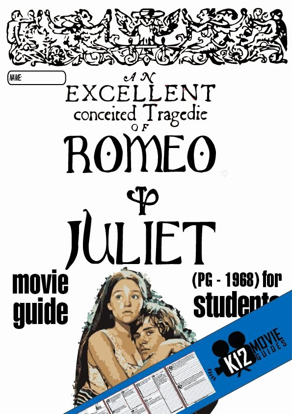 Before the Flood Worksheet Beautiful Romeo and Juliet Movie Guide Questions