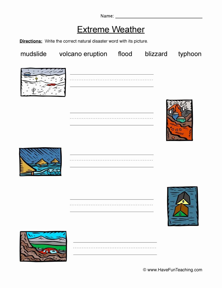 Before the Flood Worksheet Best Of Natural Disasters Worksheets for 2nd Grade Breadandhearth