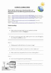 Before the Flood Worksheet Fresh Climate Change 3 Pages Esl Worksheet by Svetic