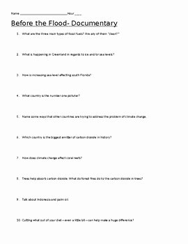 Before the Flood Worksheet Lovely before the Flood Video Questions with Key by Danielle