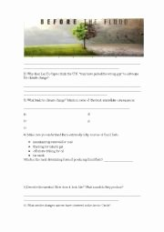 Before the Flood Worksheet Luxury English Worksheets before the Flood Documentary