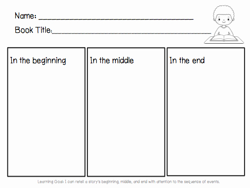 Beginning Middle End Worksheet Best Of Beginning Middle End for Author Visit Library Learners