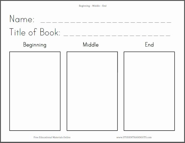 Beginning Middle End Worksheet Best Of K 3 Beginning Middle End Ela Language Arts Worksheet