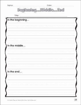 Beginning Middle End Worksheet Elegant Beginning Middle End Graphic organizer