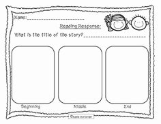 Beginning Middle End Worksheet Fresh tons Of Reading Response Sheets Activities and Games