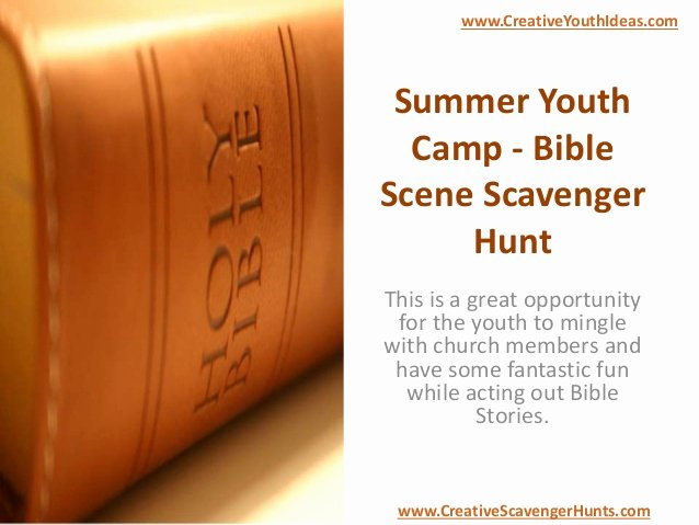 Bible Scavenger Hunt Worksheet Beautiful Summer Youth Camp Bible Scene Scavenger Hunt